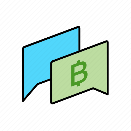 bitcoin, chat, conversation, dialogue, message, money, question icon