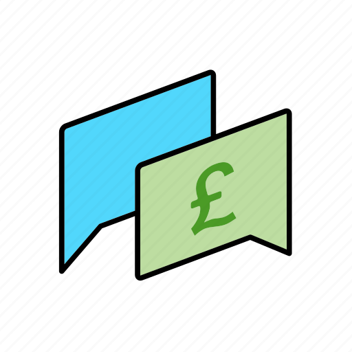 chat, conversation, dialogue, gbp, message, money, question icon