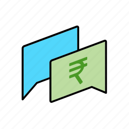 chat, conversation, dialogue, inr, message, money, question icon