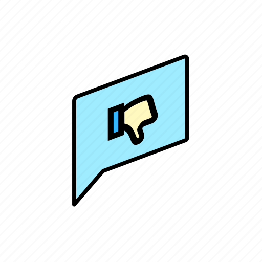chat, conversation, dialogue, dislike, message, question, send icon