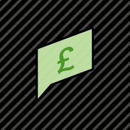 chat, conversation, dialogue, gbp, message, money, question icon