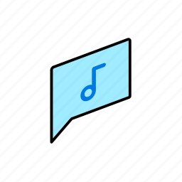 chat, conversation, dialogue, message, question, send, song icon