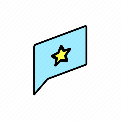 chat, conversation, dialogue, message, question, send, star icon