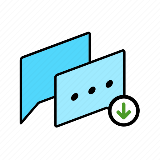 chat, conversation, dialogue, message, question, save, talk icon