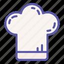 chef, cook, cooking, hat, restaurant, toque, uniform icon