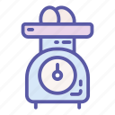 device, eggs, food, kitchen, measurement, scale, weight icon
