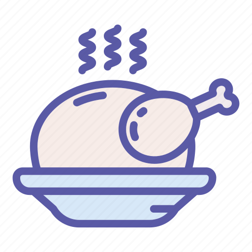 dinner, food, holiday, meal, meat, roasted, turkey icon