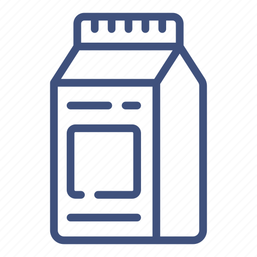 carton, container, drink, milk, pack, package, packaging icon