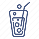 cola, drink, glass, ice, liquid, soda, sweet icon