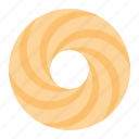 biscuit, cookie, cracker, spritz, spritz ring cookie icon