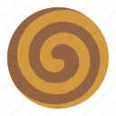 biscuit, chocolate, cookie, cracker, pinwheel cookie icon