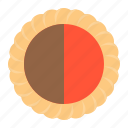 biscuit, cracker, crackercookie, half, jam icon
