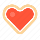 biscuit, cookie, cracker, heart, linzer, linzer cookie, valentine icon