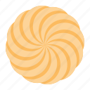 biscuit, cookie, cracker, spiral, spiral cookie, spritz cookie icon