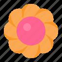 biscuit, cookie, cracker, flower cookie icon
