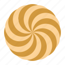 biscuit, cookie, cracker, spiral cookie icon