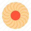 biscuit, cookie, cracker, jam, strawberry icon