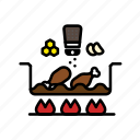 chicken, cook, cooking, food, grill, kitchen, meat icon
