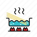 boil, cook, cooking, noodle, pasta, pot, spaghetti icon