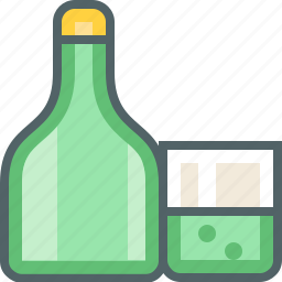and, bottle, cup, glass icon