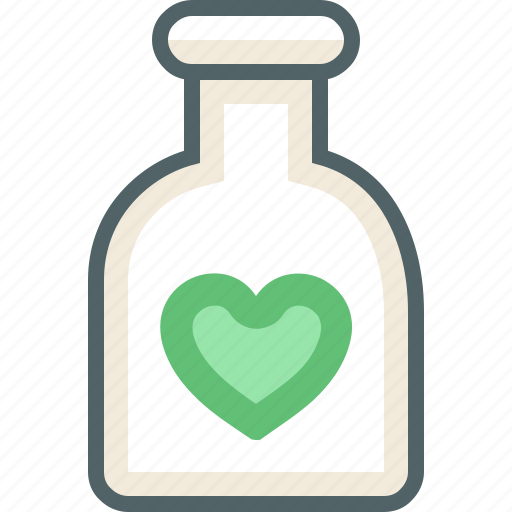 bottle, heart, with icon