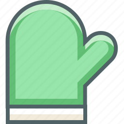 cooking, glove icon