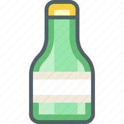 bottle, glass icon