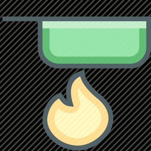 flame, pan icon