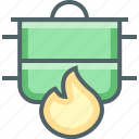 frame, pot icon