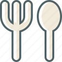 and, fork, spoon icon