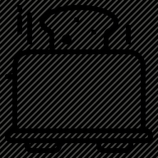 bread, cook, kitchen, machine, toast, toaster icon