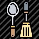 cookware, flipper, ladle, spade, spatula icon