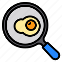 cooking, egg, food, kitchen, pan icon
