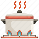 boiling, cook, cooking, food, hot, pot, stew icon