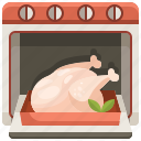 chicken, cock, cooking, food, leg, oven, turkey