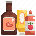 condiment, food, ketchup, mustard, sauce, spicy icon