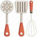 kitchen, pastry, spatula, spoon, tools, utensils, whisk