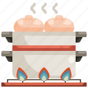 asian, dimsum, food, meat, steam, steamed