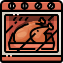 leg, cock, food, cooking, turkey, oven, chicken