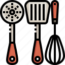 kitchen, pastry, spatula, spoon, tools, utensils, whisk icon