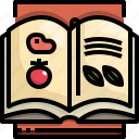 book, cook, ingredients, kitchen, recipe icon
