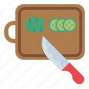 board, cutting, knife, kitchen, cooking, kitchenware, chopping icon