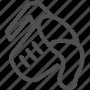 beaker, cooking, dough, food, kitchen, pour out, preparation icon