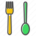 chef, cooking, fork, kitchen, spoon icon