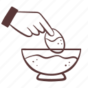 food, cooking, breaded, dip icon