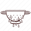wringer, colander, cooking, utensil, drain icon