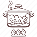 stew, stove, cooking, cooking pot, food icon