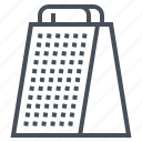 cheese, grater, kitchen, utensil, ware icon