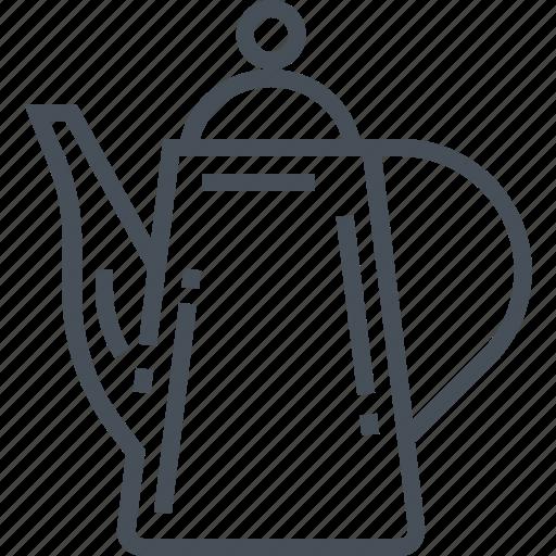 drink, hot, metallic, pot, tea, teapot, thermos icon