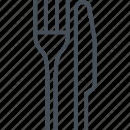 cutlery, dinner, fork, isolated, knife, restaurant icon